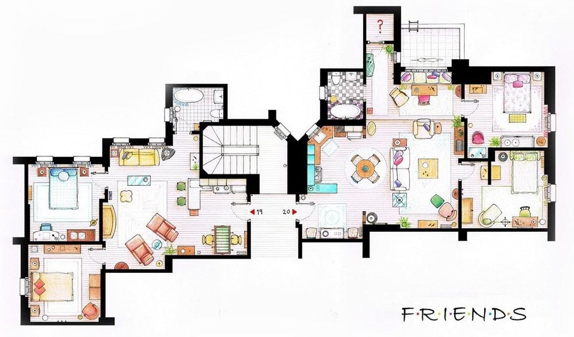 LEGO 10292 Friends Apartments Grundriss02
