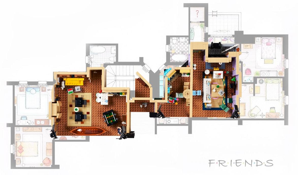 LEGO 10292 Friends Apartments Grundriss03