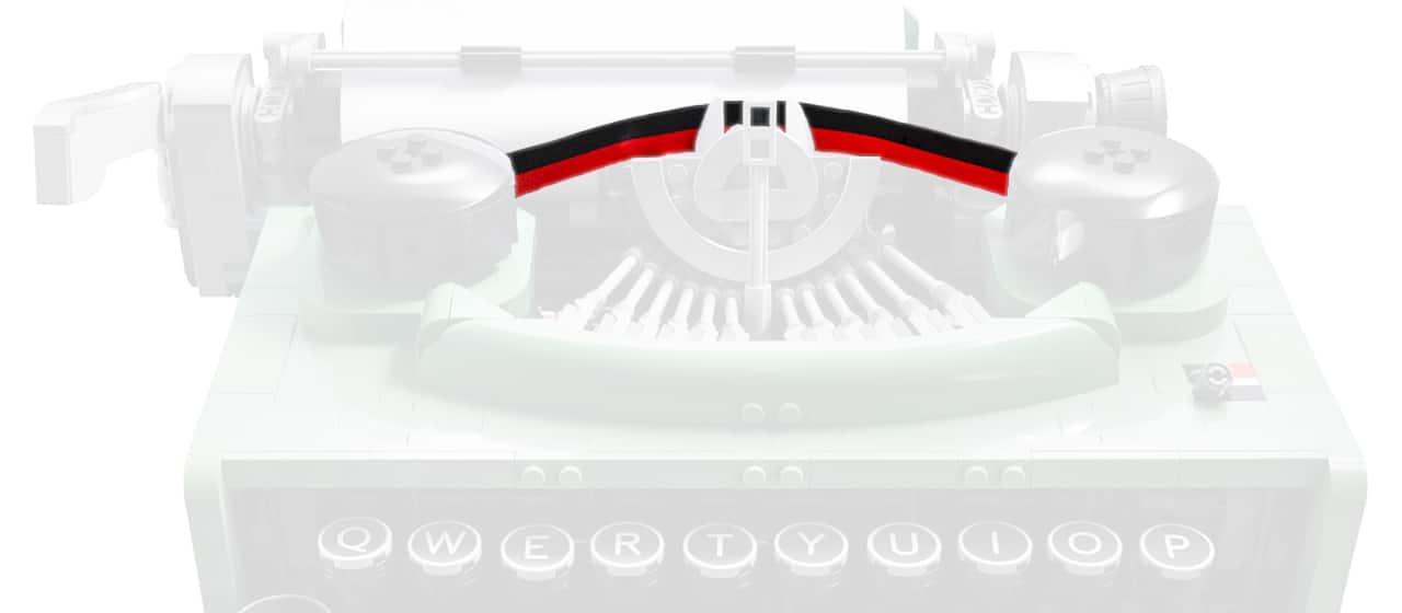 LEGO Ideas 21327 Schreibmaschine Detail Farbband