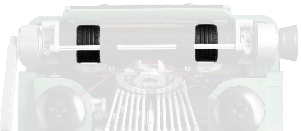 LEGO Ideas 21327 Schreibmaschine Detail Reifen
