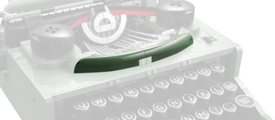 LEGO Ideas 21327 Schreibmaschine Detail Schürze