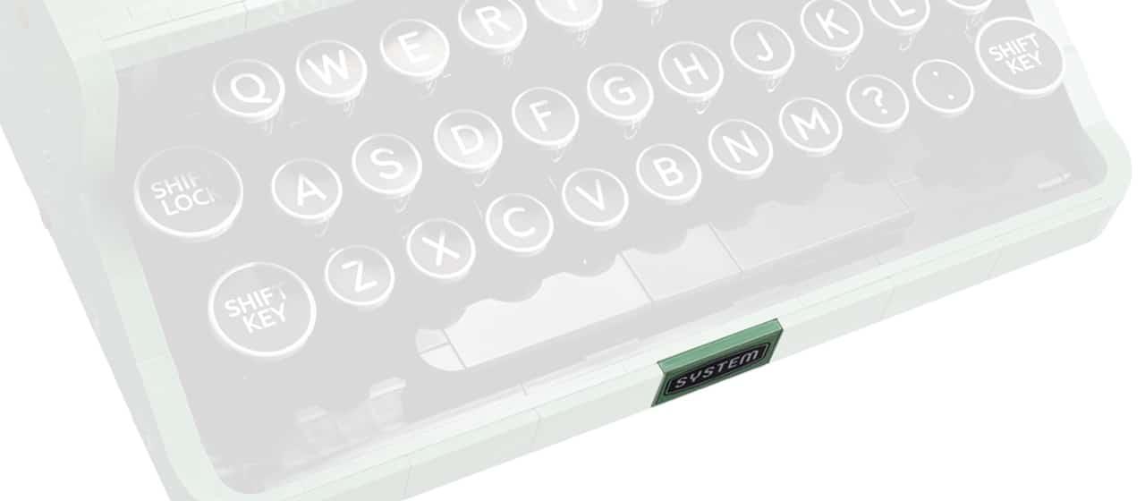 LEGO Ideas 21327 Schreibmaschine Detail Sticker