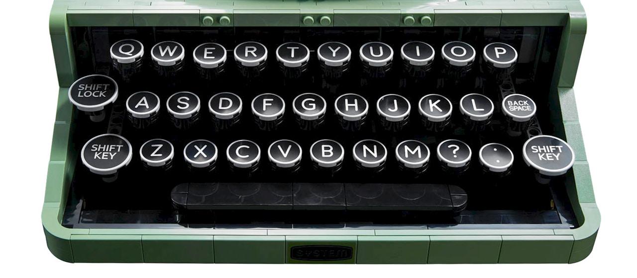 LEGO Ideas 21327 Schreibmaschine Detail Tasten