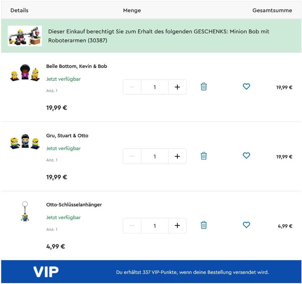 LEGO Onlineshop Minions 30387 Gwp