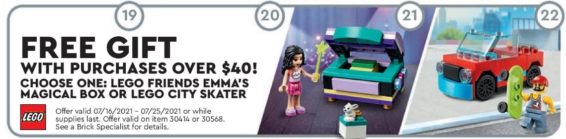 LEGO Polybags Store Flyer Juli 2021