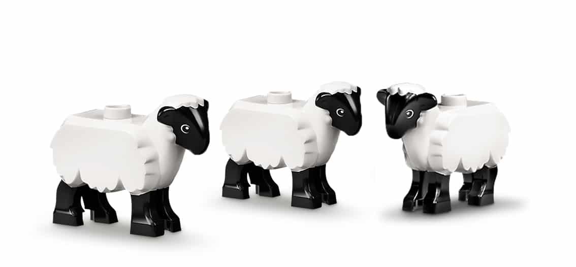 LEGO Schaf Herde Weisse Schafe