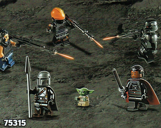 LEGO Star Wars 75315 Mandalorian Light Cruiser Minifiguren