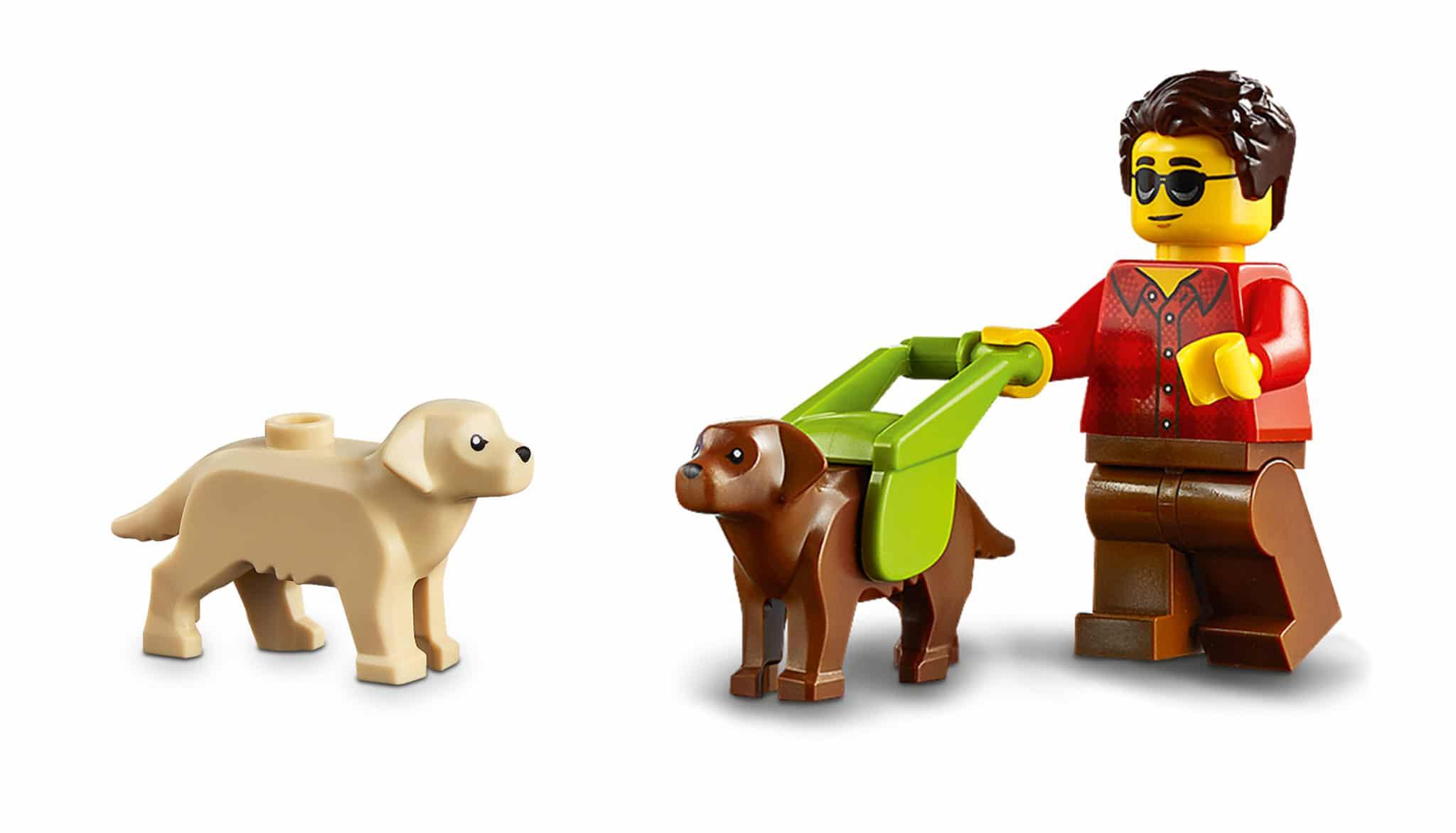 LEGO Tiere Hund Labrador Blindenhund