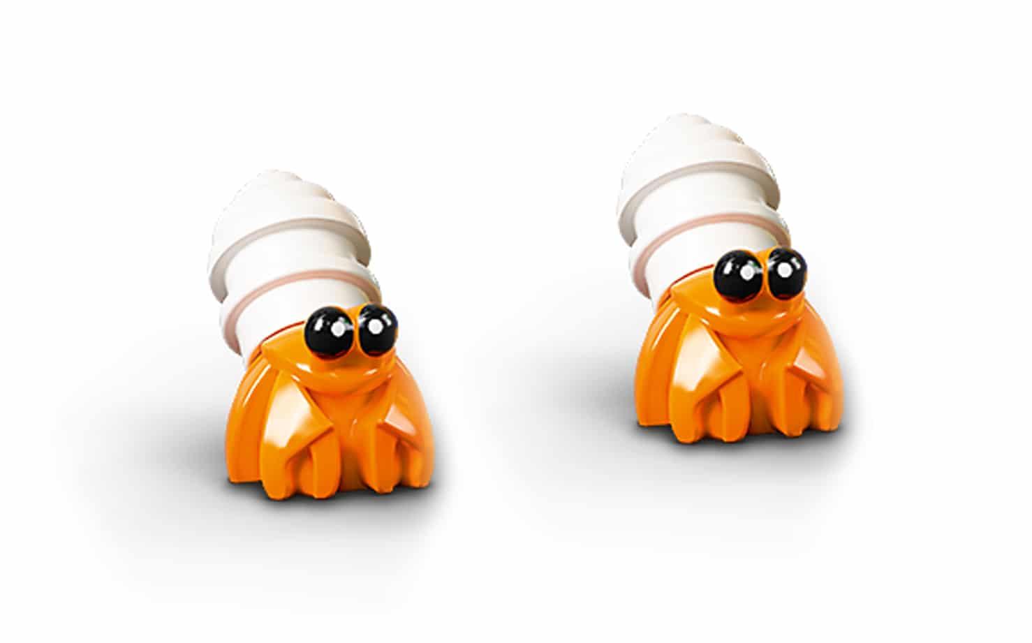 LEGO Tiere Krabbe Einsiedler Krebs