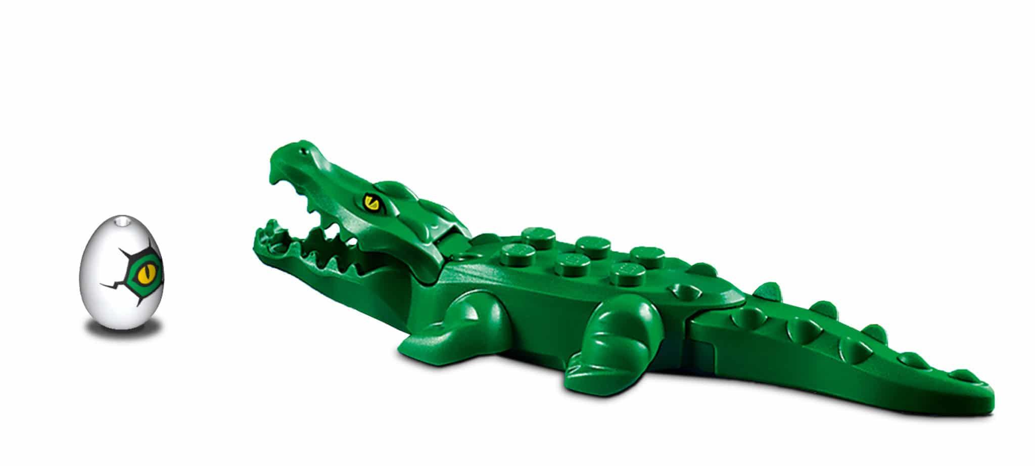 LEGO Tiere Krokodil Aligator Grün Ei