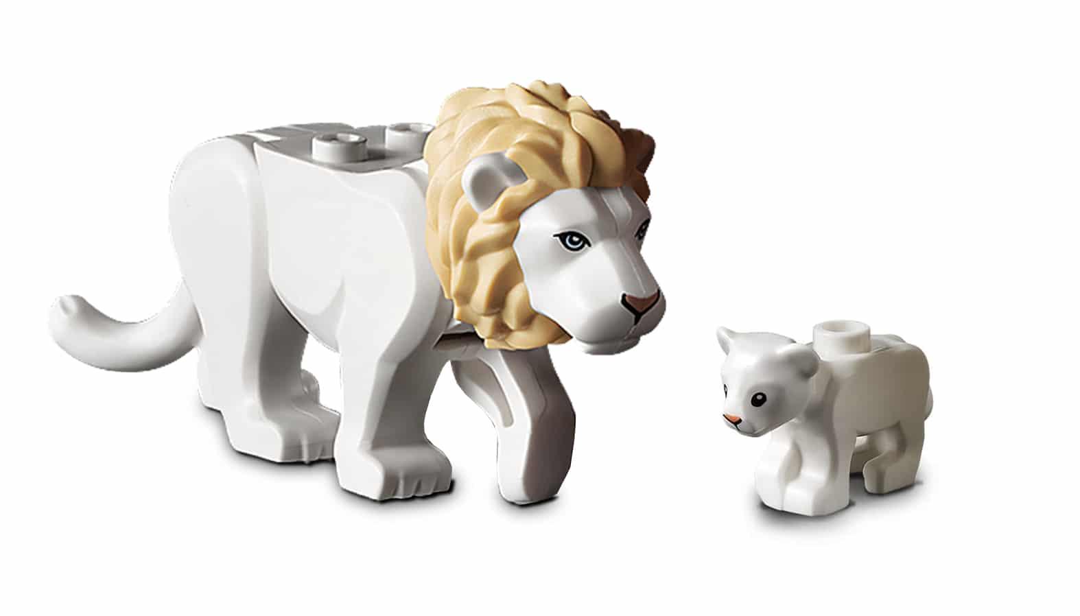 LEGO Weisse Loewen Großkatzen