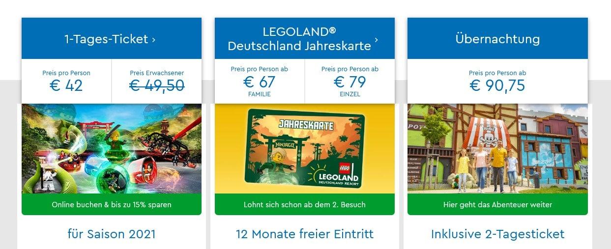 LEGOland Tagesticket Juni 2021