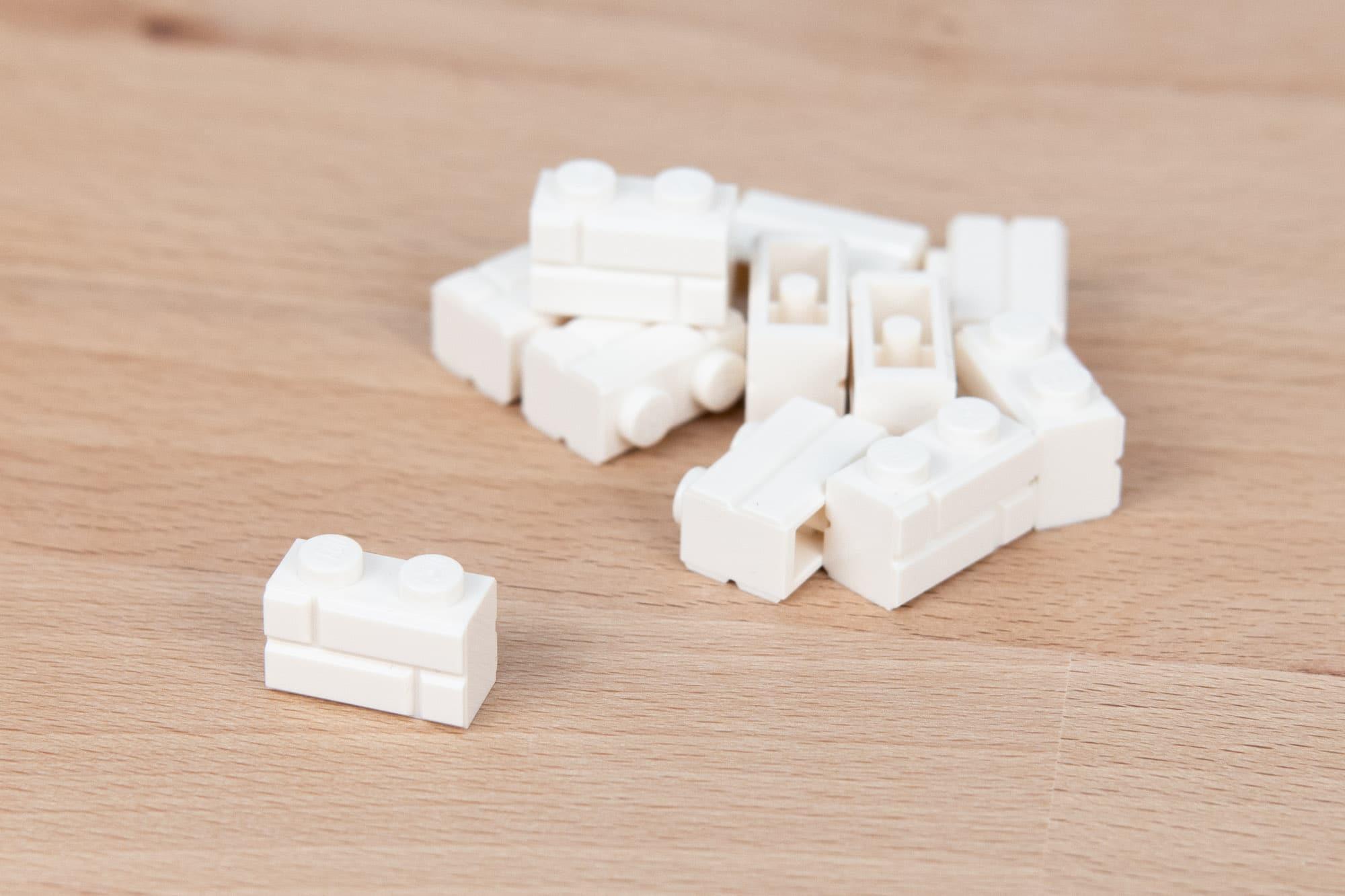 LEGO 1x2 Masonry Brick Weiß 2
