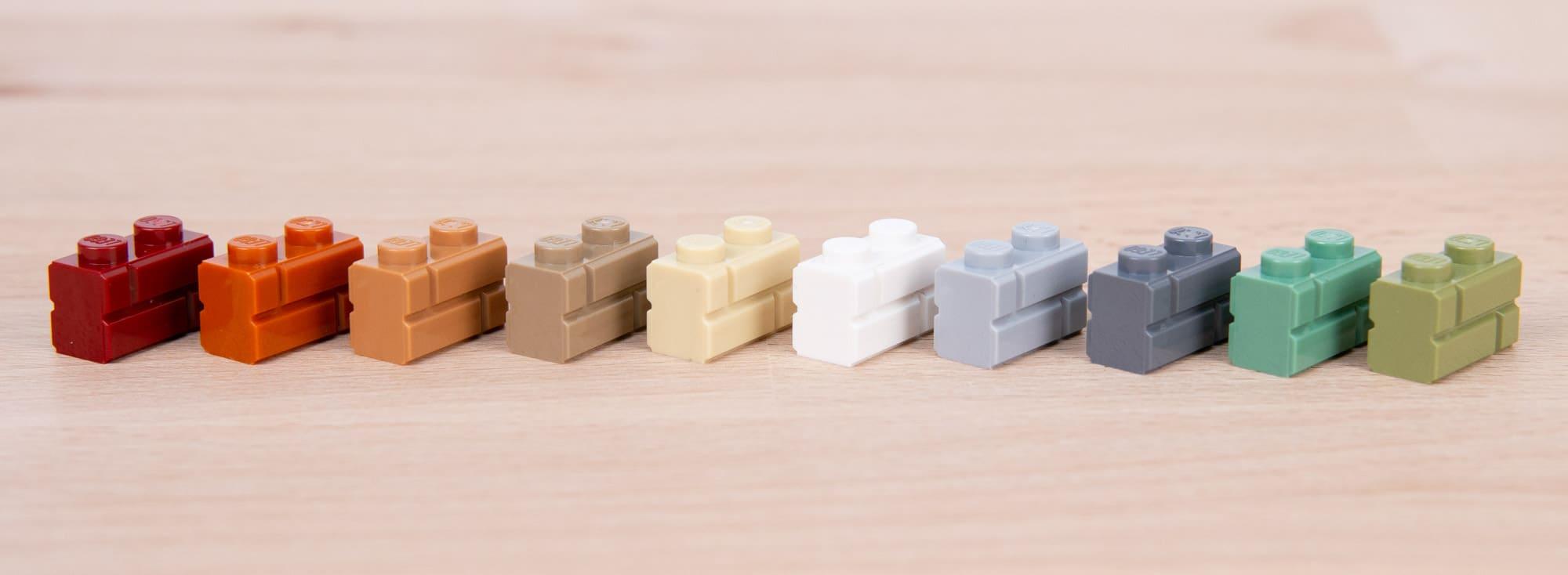LEGO 1x2 Masonry Brick Weiß 5
