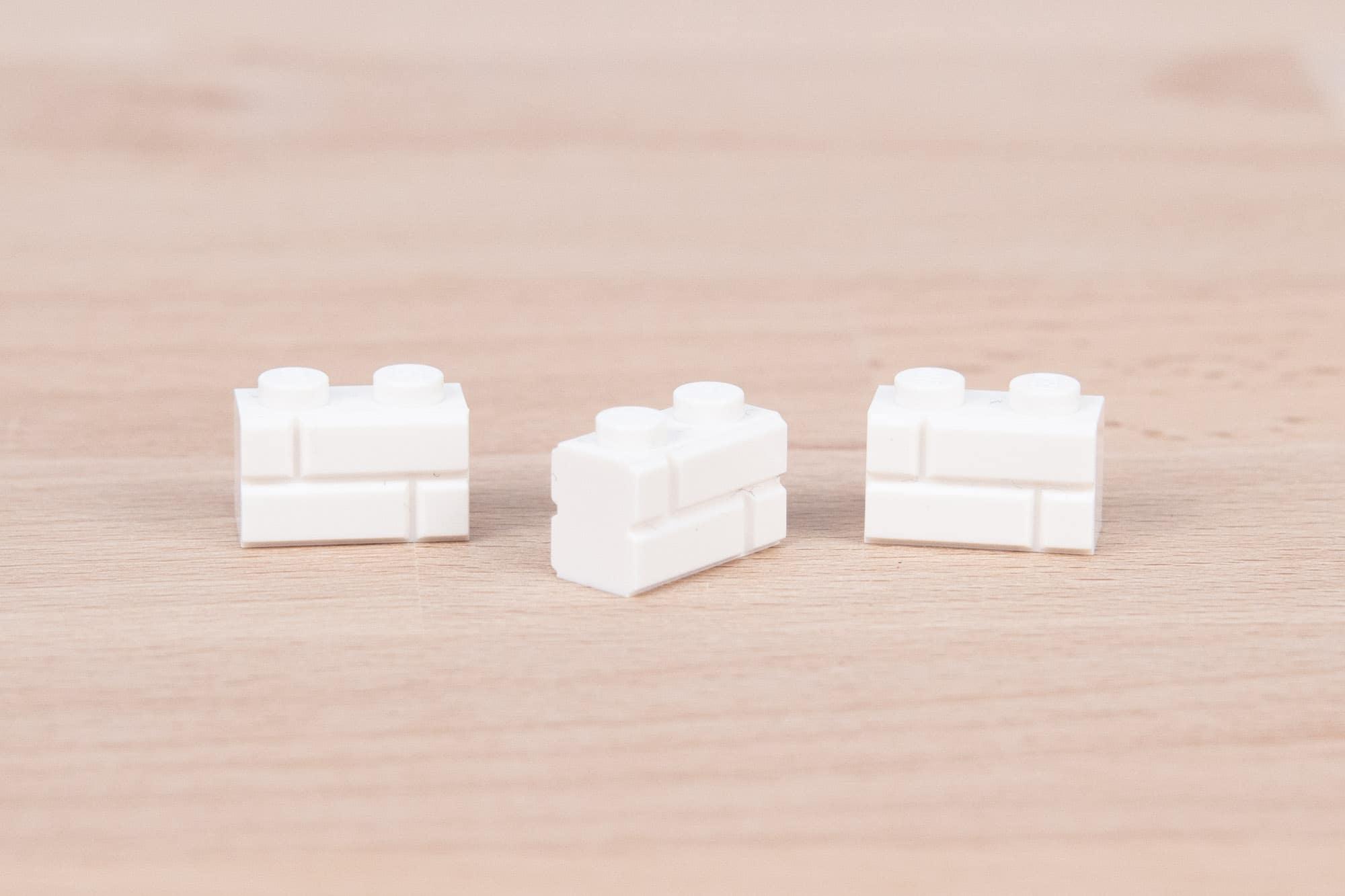 LEGO 1x2 Masonry Brick Weiß 6