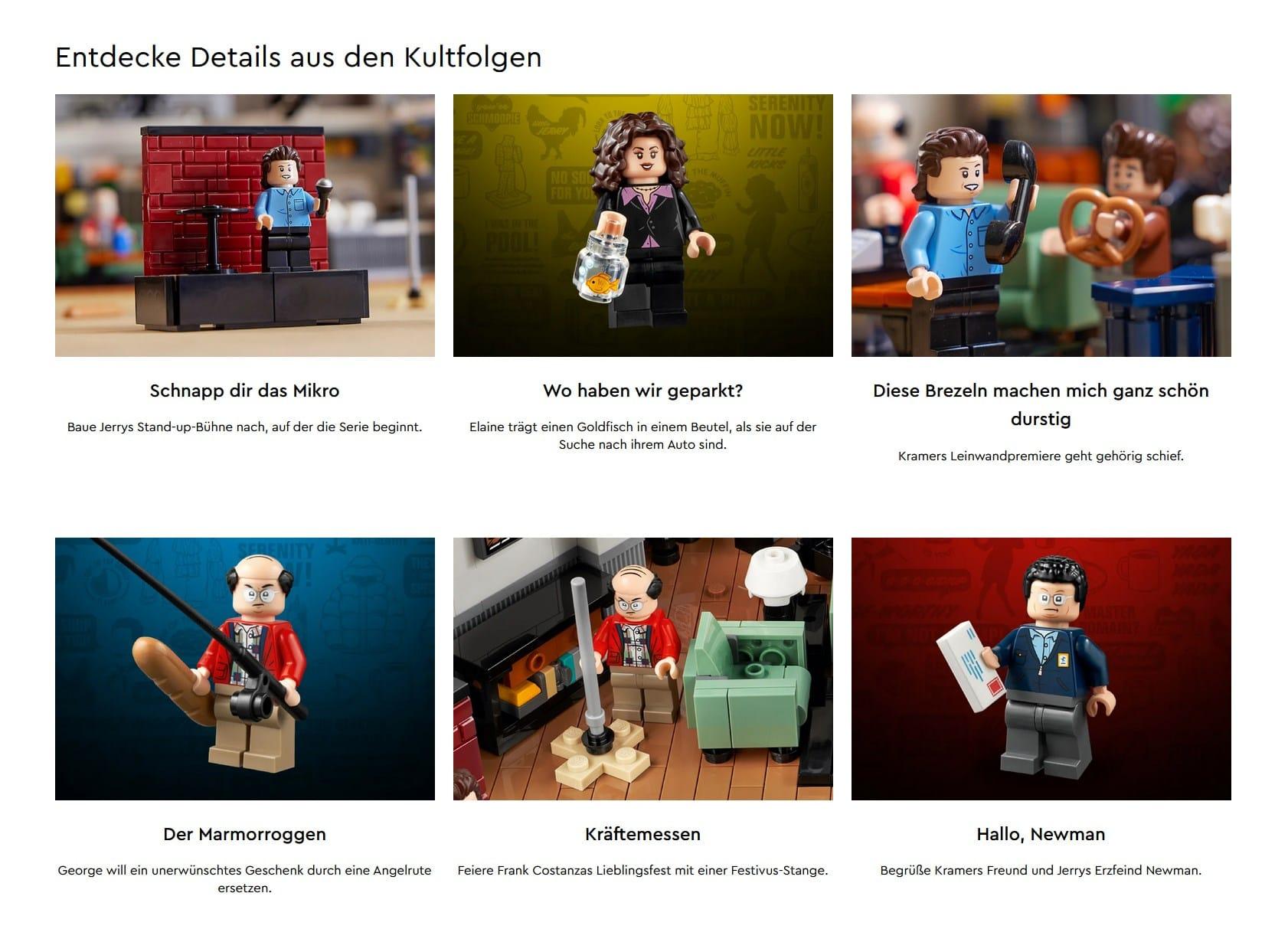 LEGO 21328 Seinfeld Anspielungen Folgen