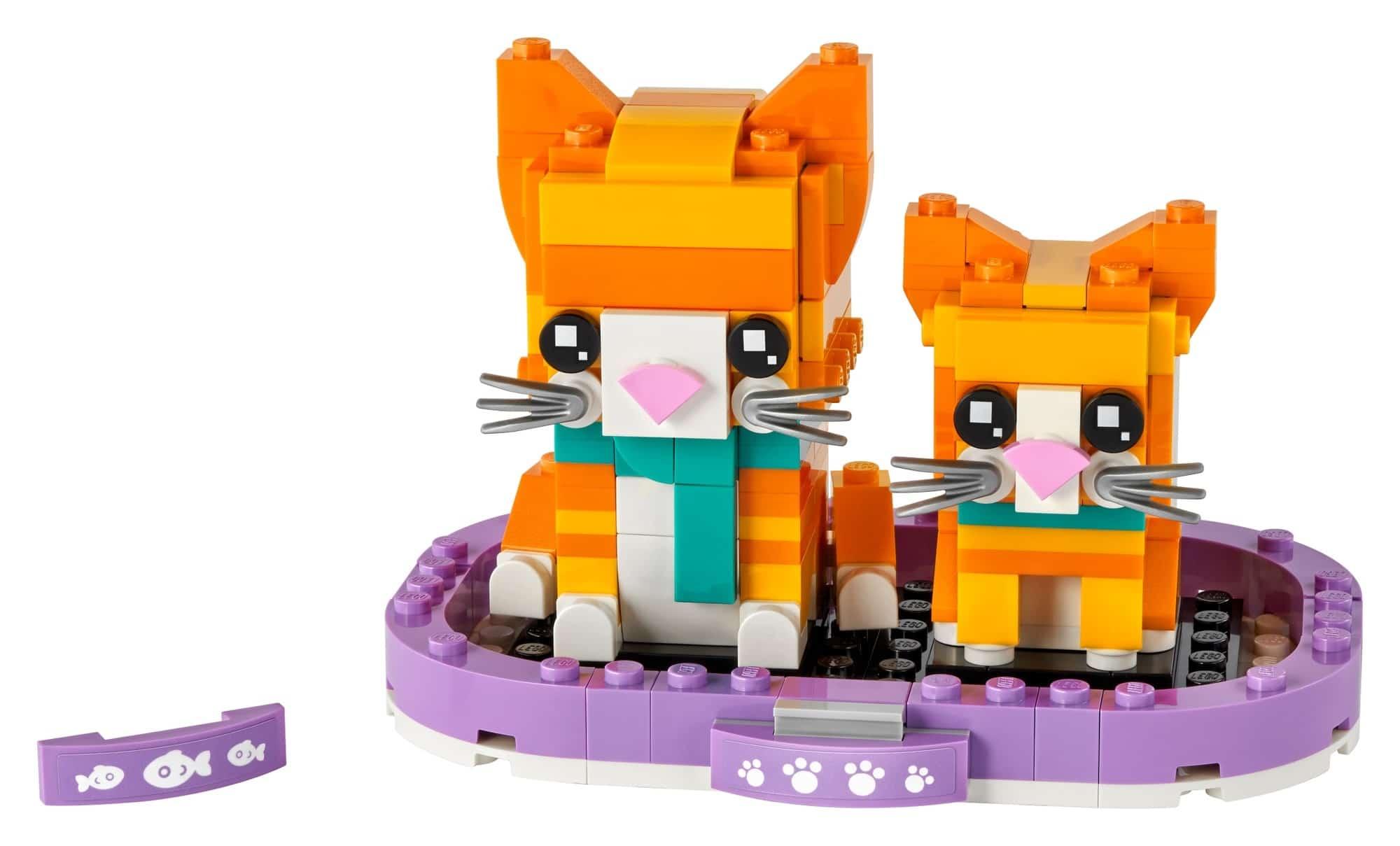 LEGO Brickheadz 40480 Rot Getigerte Katze 1