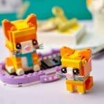 LEGO Brickheadz 40480 Rot Getigerte Katze 5