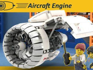 LEGO Ideas Aircraft Engine Workshop (1) 1