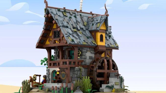LEGO Ideas Johns Medieal Watermil (1)