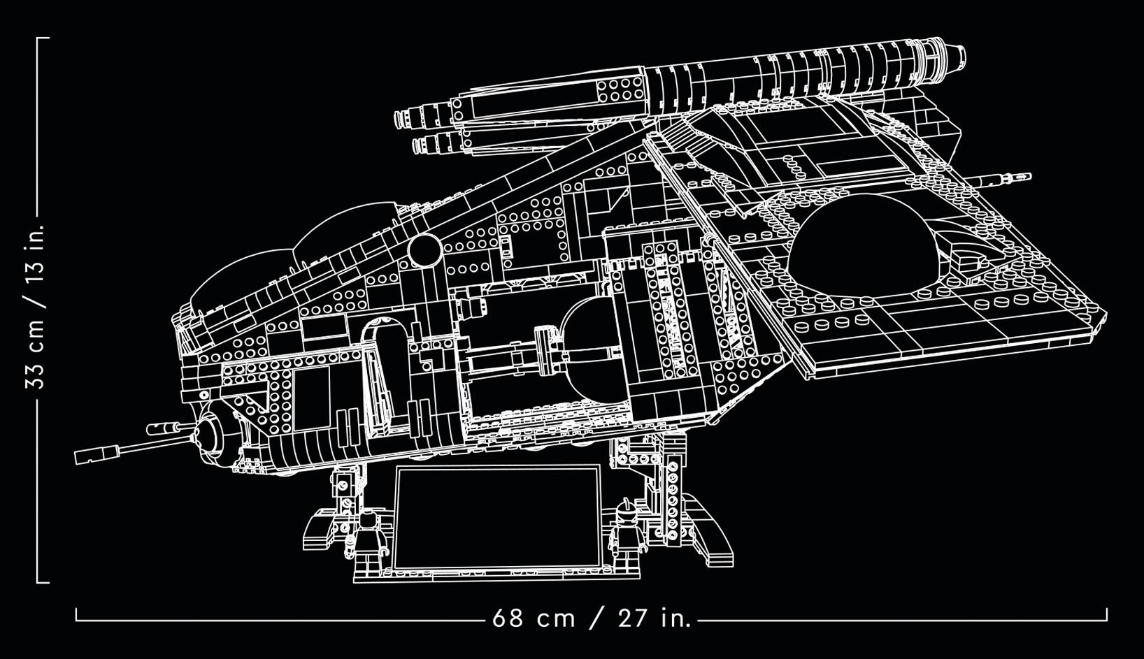 LEGO Star Wars 75309 Ucs Republic Gunship Measurements