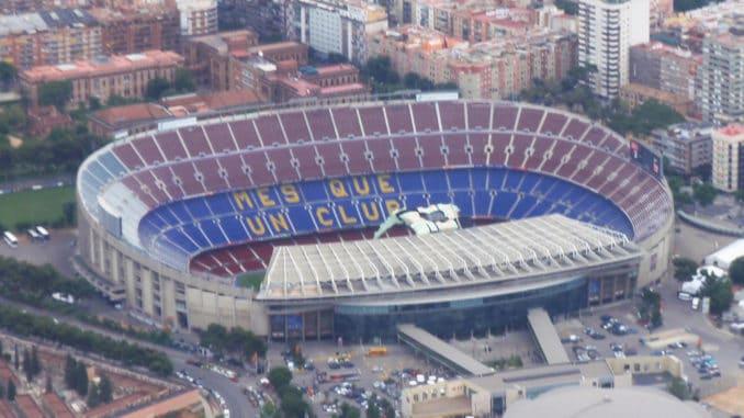 Vorbild für das LEGO 10284 Camp Nou: Das Camp Nou Stadion im Luftbild
