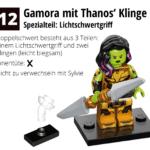 LEGO 71031 Marvel Minifiguren Feel Guide Gamora Mit Klinge Von Thanos