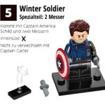 LEGO 71031 Marvel Minifiguren Feel Guide Winter Soldier