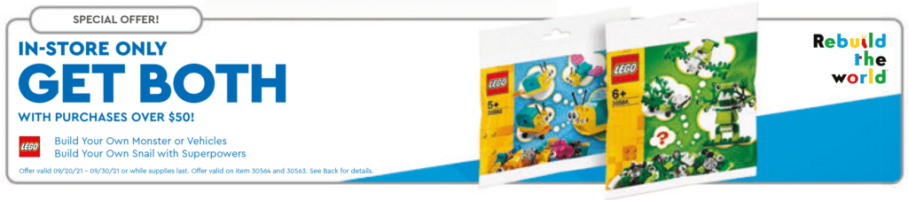 LEGO Buil Your Own Polybags Gratis
