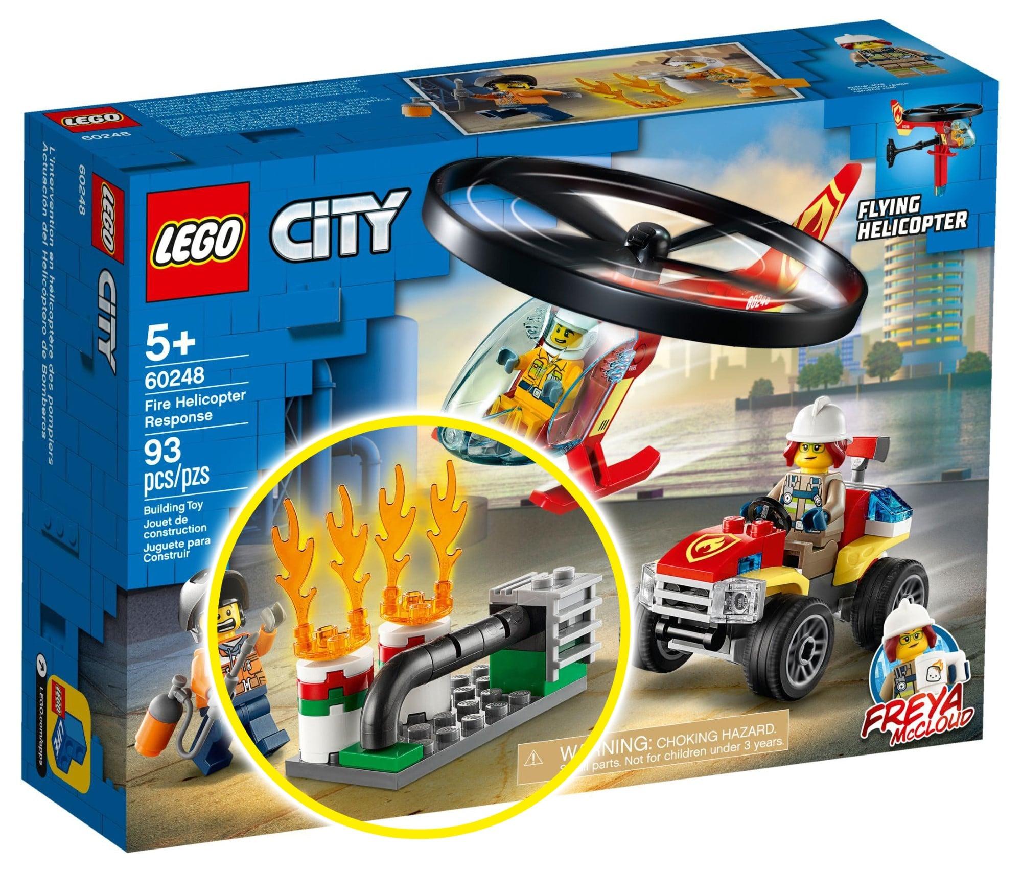 LEGO City Vergleich 60248 Feuerwehrhelikopter