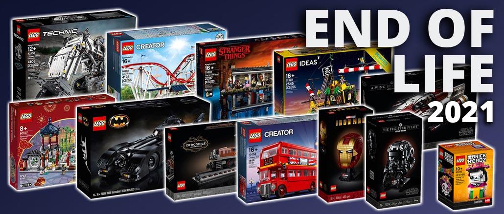 LEGO End Of Life 2021 Liste