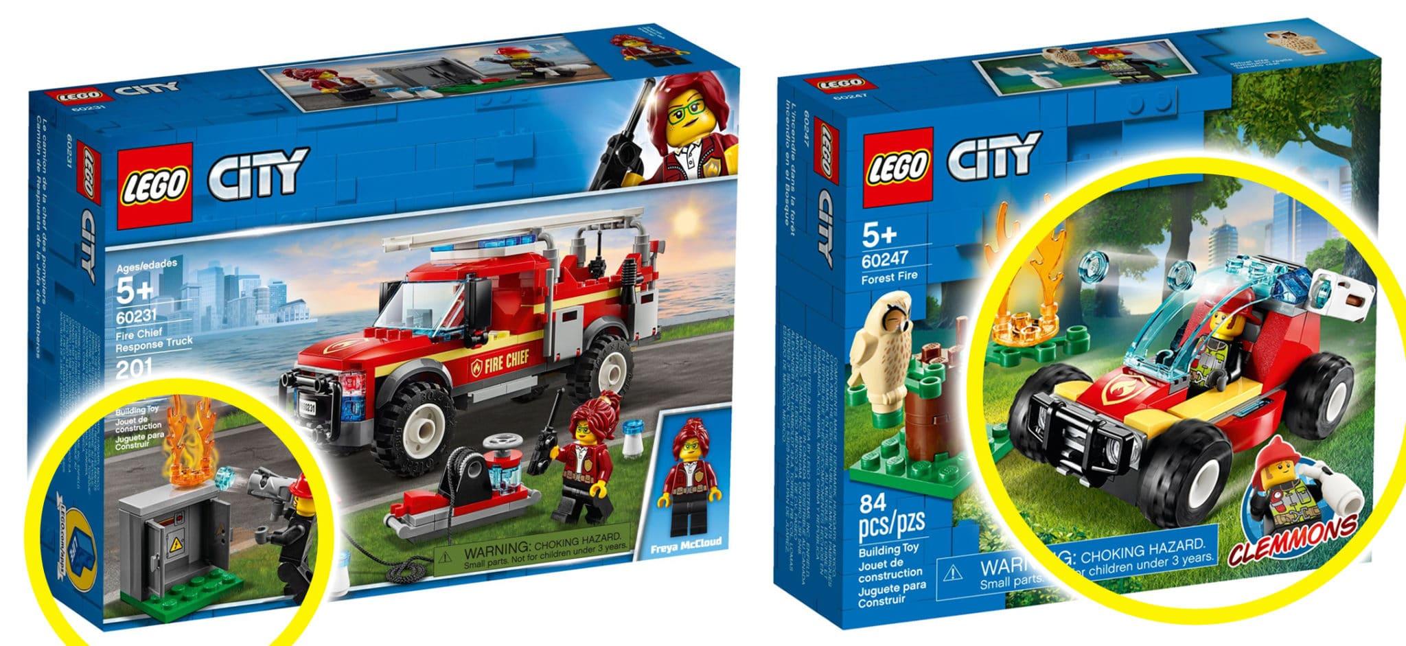 LEGO Feuerwehr Vergleich 77943 60231 60247