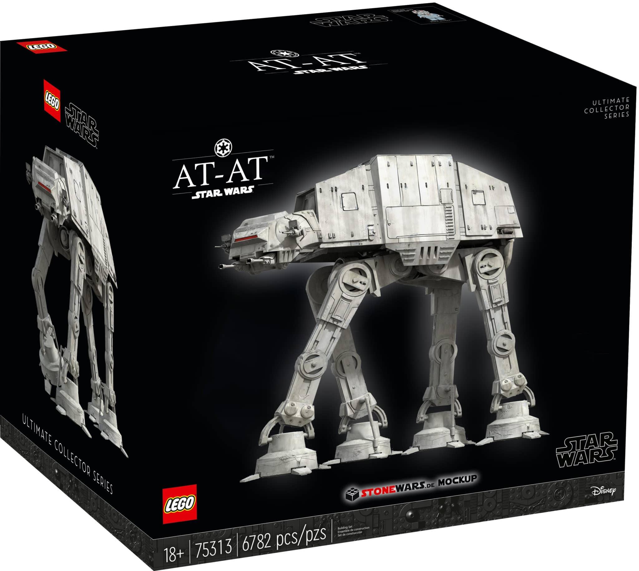 LEGO Star Wars 75313 At At Karton Mockup
