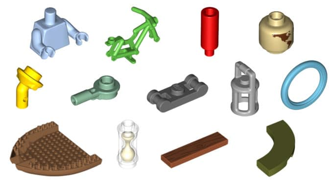 LEGO Steine Une Teile August