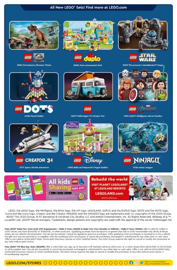 LEGO Store Flyer September 2021 2