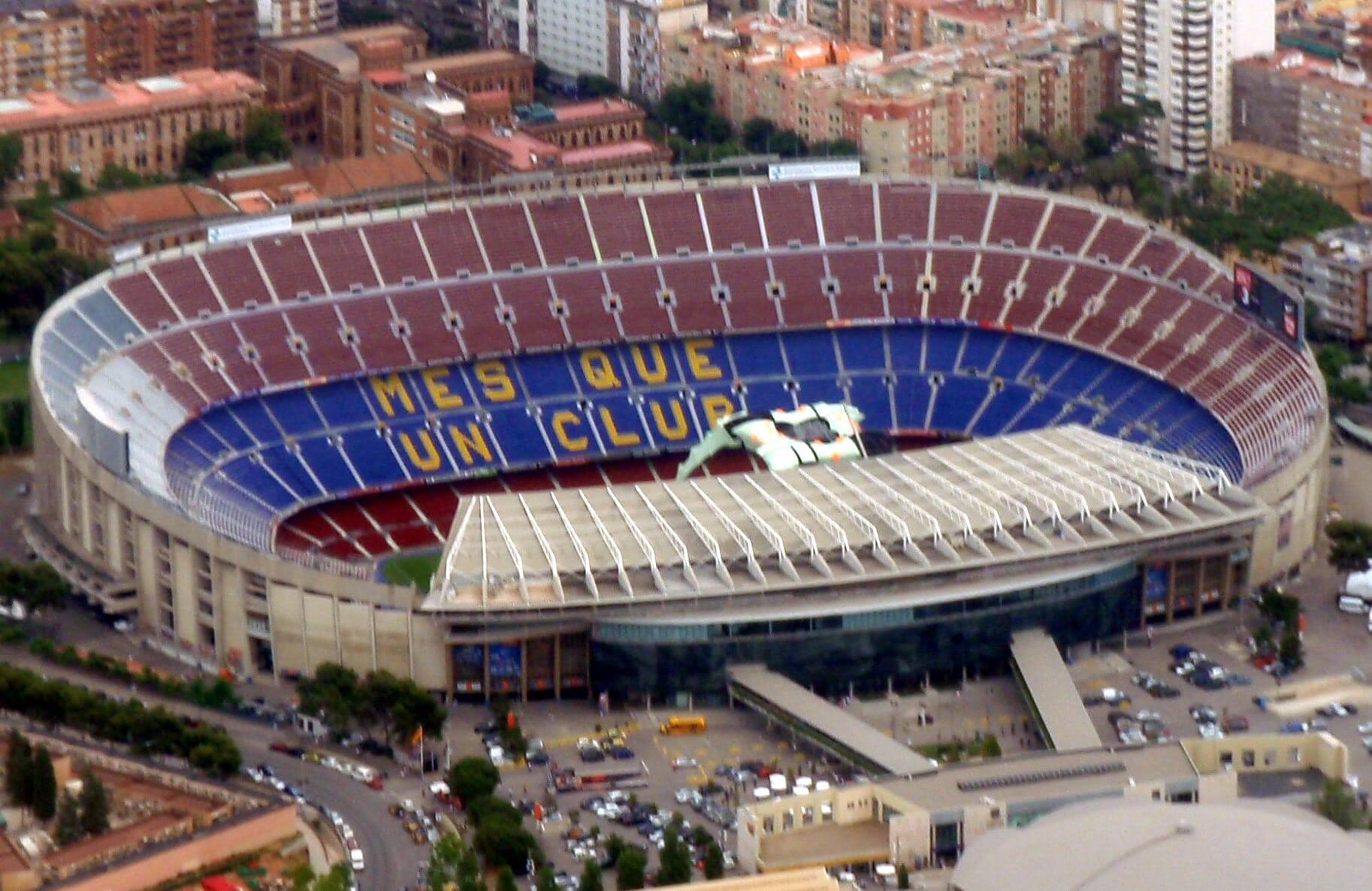 LEGO 10284 Camp Nou Luftbild Originalstadion