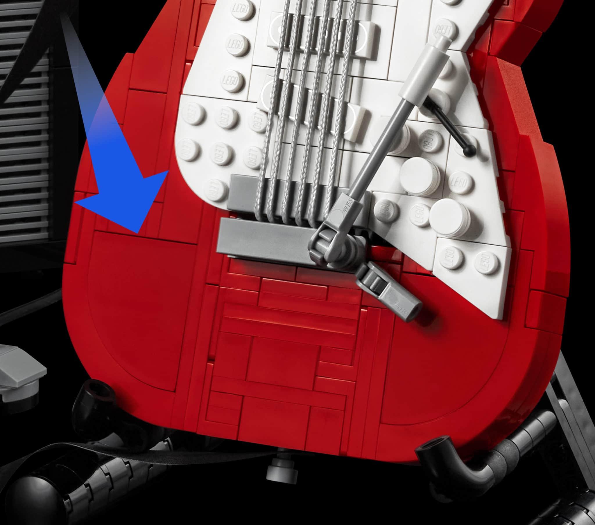 LEGO 21329 Fender Stratocaster Neue Teile05