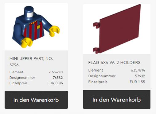 LEGO 40485 Exklusive Teile