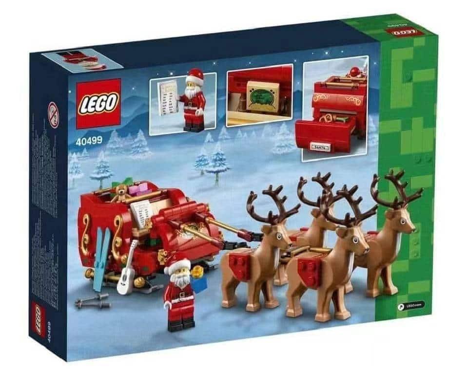 LEGO 40499 Santa Sleigh Box Rueckseite