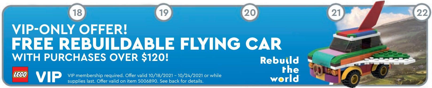 LEGO 5006890 Fliegendes Auto Store Flyer Us