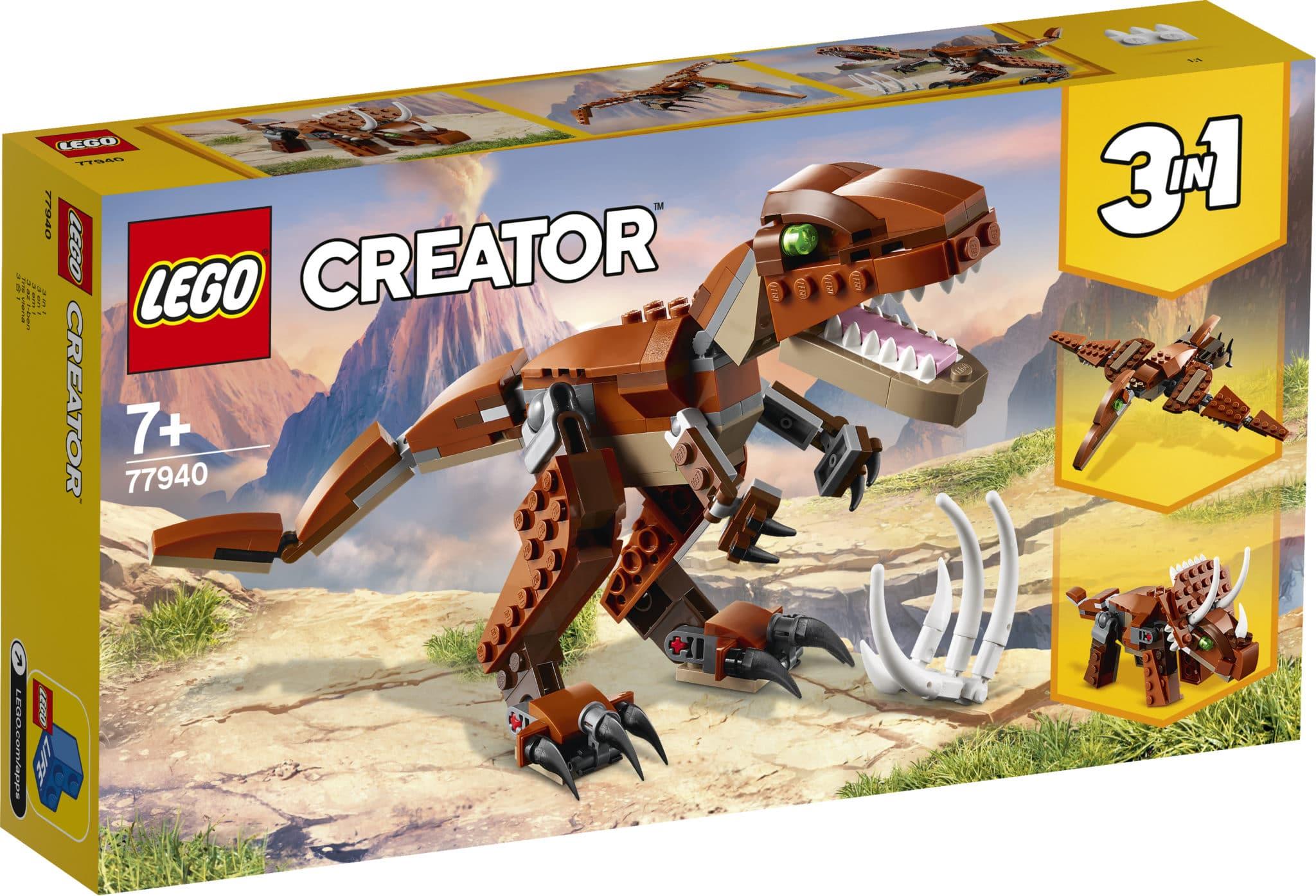 LEGO 77940 Dinosaurier Braun