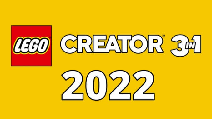 LEGO Creator 3 In 1 Neuheiten 2022 Titelbild