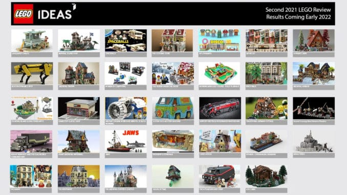LEGO Ideas Reviewphase 2 2021 Ergebnis Titel