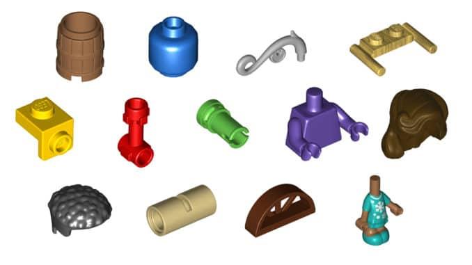 LEGO Steine Und Teile September