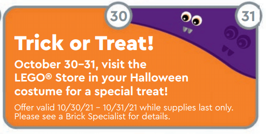 LEGO Store Flyer Oktober Halloween