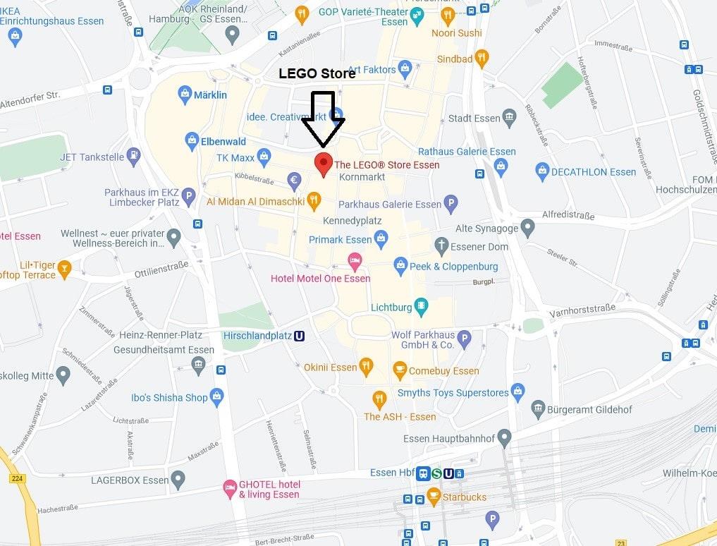 Tour De LEGO Essen Map Detail Klein
