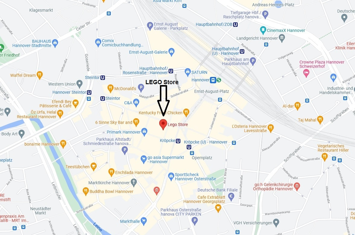 Tour De LEGO Hannover Map