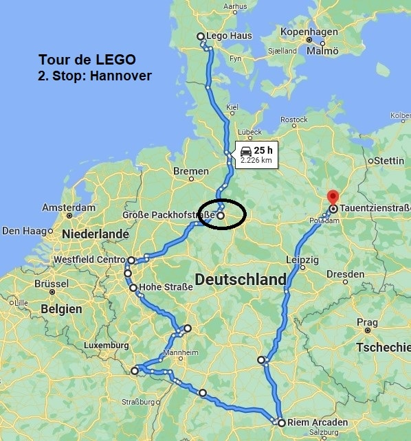 Tour De LEGO Route Hannover