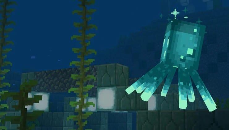 Minecraft Leuchttintenfisch