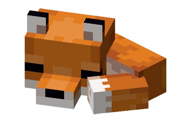 Minecraft Schlafender Baby Fuchs